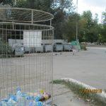 Система раздельного складирования мусора с помощью сетчатых контейнеров горкомтранс города караганды